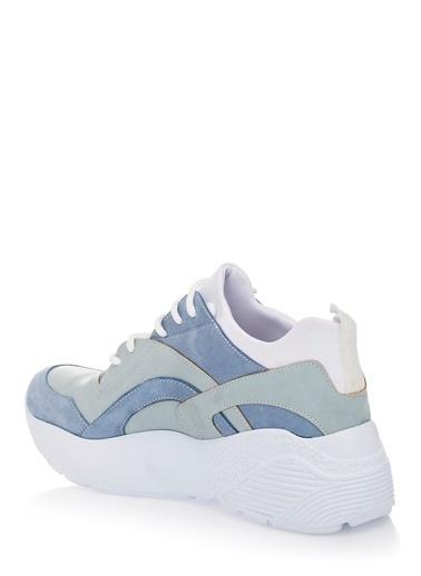 Pier Lucci Hakiki Deri Spor Ayakkabı Mavi